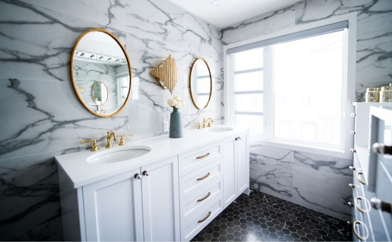 Marble Stone Tile Bathroom Flooring
