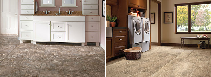 Purstone vinyl flooring bathroom laundry room
